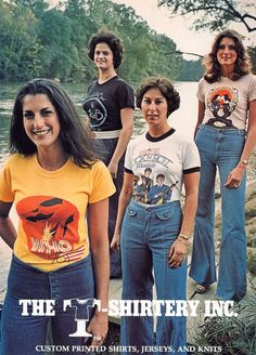 "T-Shirts hit their stride in the 70s: not too long ago, the t-shirt with a saying or image on it was a novel idea.  Kids in the 60s didn't have Incredible Hulk or ""I'm with stupid"" T-shirts.  I remember when stores offering only iron-ons were extremely common."