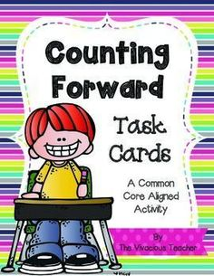 Counting Forward Task Cards: This engaging activity is designed to increase number fluency. Students pick a colorful card and follow the directions to count from a starting number to a specific ending number. (For example: Start counting at 85. Stop counting at 97.) Grades K-2 ~ The Vivacious Teacher