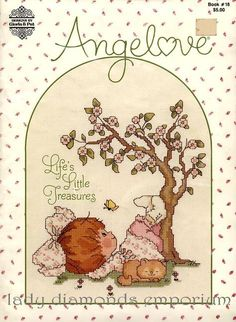 Angel Love ~ Vintage 1982 Cross Stitch Book # 18 Gloria & Pat Designs ~ Life's Little Treasures, Cross Stitch Patterns / Charts / Book by ladydiamond46 on Etsy