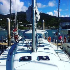 This is my boat. There are many like it but this one is mine.  . . . . . . #australia #queensland #whitsundays #yacht #yachtinglife #yachtlife #sail #sailing #sailorgirl #sailingstagram #marina #boat #sailboat #tropical by grotty_yachty