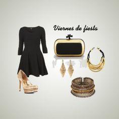 Viernes por fin día de fiesta,puedes verte muy elegante al usar un pequeño vestido negro con accesorios dorados.    http://www.linio.com.mx/ropa-calzado-y-accesorios/?utm_source=pinterest_medium=socialmedia_campaign=14122012.viernesdefiestavisible