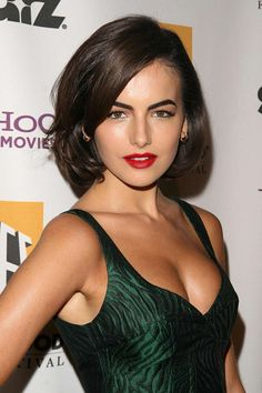 """Camilla Belle wearing Giorgio Armani at the """"Hollywood Film Festival"""" oct Haircuts For Medium Hair, Medium Hair Styles, Short Hair Styles, Camilla Belle, Make Up Looks, Beautiful Celebrities, Beautiful Actresses, Belle Hairstyle, Provocateur"""