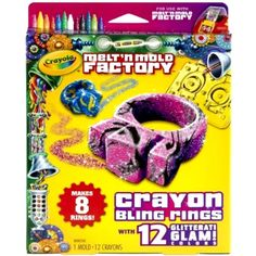 Crayola Melt 'N Mold Factory Bling Rings Kids Crafts Supplies Crayons Brand New #Crayola