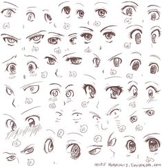 Anime eyes II by Harukarix3.deviantart.com