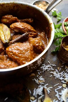 Cape Malay chicken curry roasted bananas