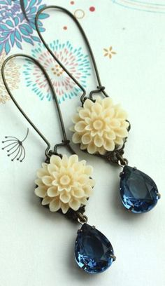 blue + ivory. love these!