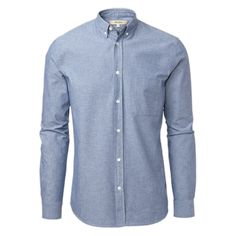 WHYRED - Colin chambray #MQ #Mqfashion Chambray, Sweden, Mens Fashion, Shirt Dress, Mens Tops, How To Wear, Blue, Shirts, Outfits