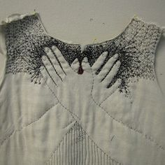 This is quite lovely and original. I am thinking of something else I could embroider using fingers on a t-shirt...