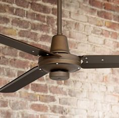 "Plaza Damp Rated Ceiling Fan – 52"" Oil-Rubbed Bronze - #EU7C840 - Euro Style Lighting"