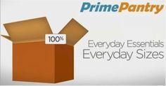 FREE $5 Amazon Prime Pantry Credit -prime members | Get FREE Samples by Mail | Free Stuff