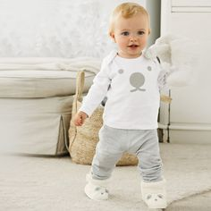 Polar Bear Slipper Bootie - Baby Sleepwear | The White Company
