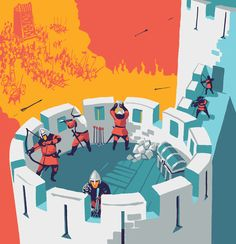 Game-book about Knights on Behance