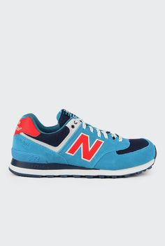 new balance 574 blue and red