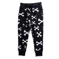 Track suit pants Black White bones