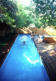 pool backyard Lap Pool and Spa Plans by Stevenson, DIY, In-ground Pool, Build Your Own Lap Swimming Pool and Spa! Backyard Pool Landscaping, Backyard Pool Designs, Small Backyard Pools, Small Pools, Landscaping Ideas, Small Indoor Pool, Small Backyards, Small Yards With Pools, Backyard Ideas