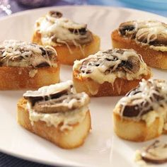 Thanksgiving Appetizers Recipes from Taste of Home, including Artichoke and Mushroom Toasts Recipe