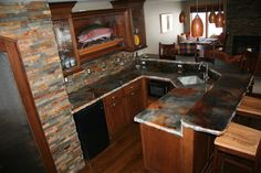 GFRC Precast Concrete Countertop with Water Based Stain LIKE A LOT!!