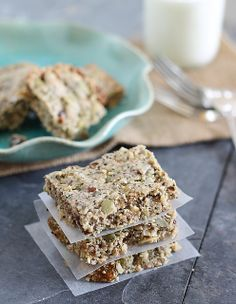 Grain Free Breakfast Bars - replace dark chocolate chips with cacao nibs