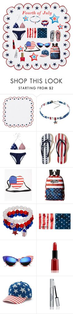 """""""4th of July"""" by neesyrn on Polyvore featuring Kim Seybert, Hollister Co., Vans, Billabong, ZeroUV, Giorgio Armani, Mudd, Christian Dior and ncLA"""