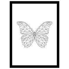 """Geometric Butterfly"" from Form, a collection of geometric prints inspired by the intricate beauty of the natural world. Print is available in three sizes and printed on 250gsm Silk paper. Sizes: A3: 11.7 X 16.5 Inches A4: 8.3 X 11.7 Inches A5: 5.8 X 8.3 Inches"