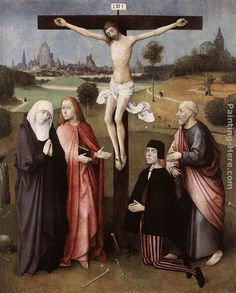 Hieronymus Bosch Crucifixion with a Donor