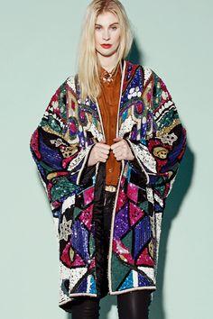 Heavy duty sequin kimono duster: http://thriftedandmodern.com/mardi-gras-sequin-jacket