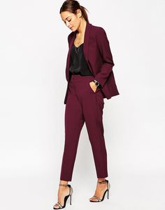 Premium Clean Tailored Pants.  I like the pencil pants.  If you can something that has a mid rise waist.  I prefer it not to sit at the natural waist.