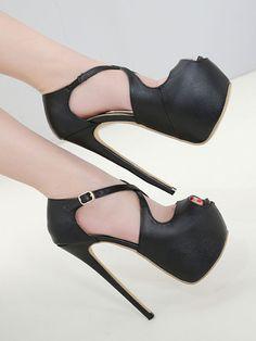 4145f346bc81a4 Chaussures sexy à talons pointus - Noir de Sy-Belle est vendu sur la  boutique