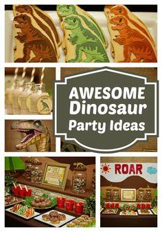 Roaring Good Dinosaur Birthday Party - Spaceships and Laser Beams