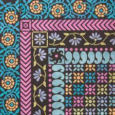 Sari-inspired Indian Furniture Border Stencils by Royal Design Studio Stencils