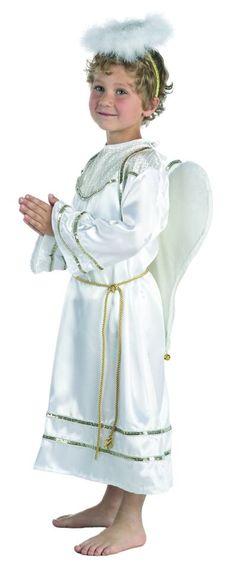 DisfracesMimo, disfraz de angel infantil varias tallas. Este celestial disfraz de angel para niños y niñas resulta perfecto para que los más pequeños representen angelitos.Este disfraz es ideal para tus fiestas temáticas de disfraces de navidad para niños infantiles.