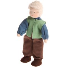 Waldorf Family Dolls - Grandfather. Perfect size for a dollhouse, or to play with on its own! Handmade. $34.95