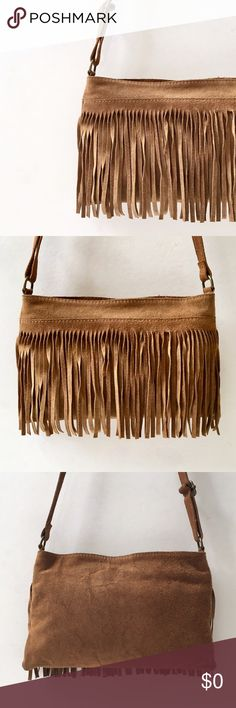 """Coming Soon. Fringed Suede Crossbody Bag, 70s Vibe Funky Cool... 10""""w x 6.5""""h. all details to follow. Note: 1 fringe has a boo boo...center one of course!!! See pic. Bags Crossbody Bags"""