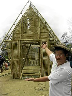 De Leon has designed a six-meter high bahay-kubo to serve as the Philippine Pavilion for the main exhibit area in Veletrzni Palace, the building of the Czech National Gallery. Bahay Kubo Design Philippines, Filipino Architecture, Prague, Exhibit, Pavilion, Palace, Gallery, Building, Roof Rack