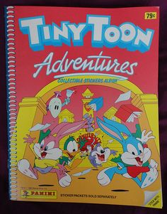 Tiny Toons Adventures by Panini. with empty album. Retro Images, 80s Kids, Album Book, Looney Tunes, Cartoon Characters, Childhood Memories, Nostalgia, Stickers, Adventure