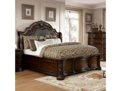 All Furniture - Furniture Market - Austin, TX Cherry Sleigh Bed, Bedroom Furniture, Bedroom Decor, Dark Furniture, Furniture Market, Furniture Deals, Luxury Furniture, California King Bedding, Sleigh Beds