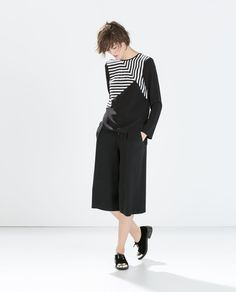 Image 1 of MIXED STRIPE TOP from Zara