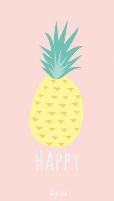 PINK - Cute Pastels Like or repost if you save/use Iphone Wallpaper Themes, Ocean Wallpaper, Iphone Wallpaper Tumblr Aesthetic, Painting Wallpaper, Cute Wallpaper Backgrounds, Tumblr Wallpaper, Cute Cartoon Wallpapers, Cartoon Pineapple, Kate Spade Wallpaper