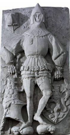 Effigy of Walter von Hohenklingen, killed at the Battle of Sempach 1386 Swiss National Museum, Zürich, Switzerland