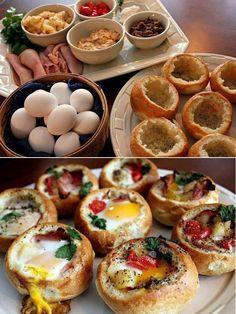 Jajka + maslo+ starty ser + wedlina na 20 min w piekarniku i przekaska jest