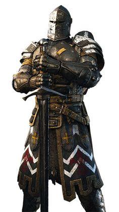 For Honor Warden Guide Fantasy Male, Fantasy Armor, Medieval Knight, Medieval Armor, Medieval Fantasy, Armadura Medieval, Dnd Characters, Fantasy Characters, For Honor Warden