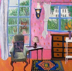 OBSERVATIONAL INTERIOR: Drawing Room, Jenny Wheatley, 2009. Here the artist has taken inspiration from Matisse. She has flattened the space and emphasized pattern, creating lively design. This would work better in an 2D Design portfolio than in a drawing portfolio but would work well in any college portfolio. I really like it.