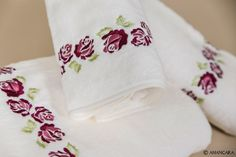 Dry off with a bright floral peony tris by Amancara.