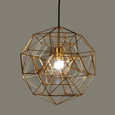 Lamp hexacomplex brass S sold by pols potten, http://vps18379.public.cloudvps.com.