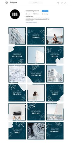 Instagram Puzzle Template for Canva, Instagram Template, Puzzle Feed Layout, Canva Templates