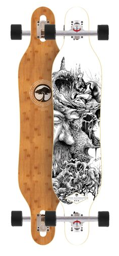 Arbor Axis Bamboo Longboard Complete - Drop Through