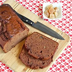 Nutella Banana Bread with Crystallized Ginger #DessertRecipes247