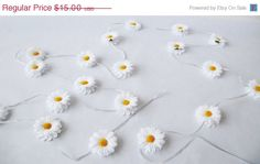 ON SALE GARLAND White Camomile Artificial by TheSecretGardenn, $13.50