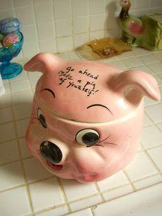 Vintage Piggy cookie jar by artworkbyimelda, via Flickr