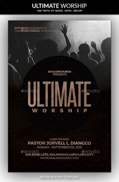 Ultimate Worship Church Flyer Template #design Download: http://graphicriver.net/item/ultimate-worship-church-flyer/12663367?ref=ksioks